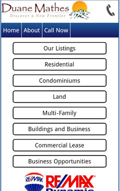 A Mobile Optimized IDX Real Estate Search